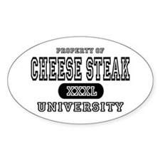 Cheese Steak University T-Shirts Oval Decal