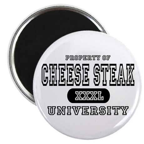 "Cheese Steak University T-Shirts 2.25"" Magnet (10"