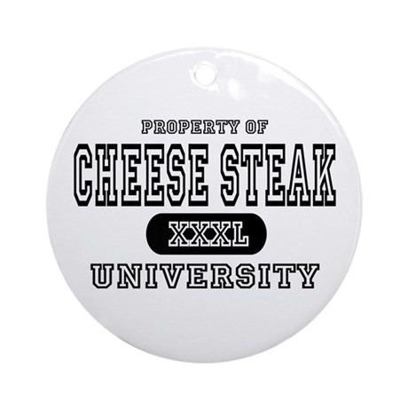 Cheese Steak University T-Shirts Ornament (Round)