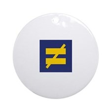 Not Equal - Different by Design Ornament (Round)
