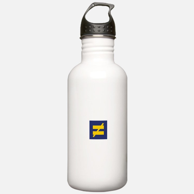Not Equal - Different by Design Water Bottle