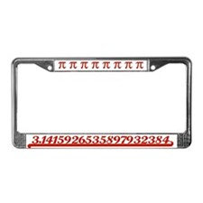 Team Pi Red License Plate Frame