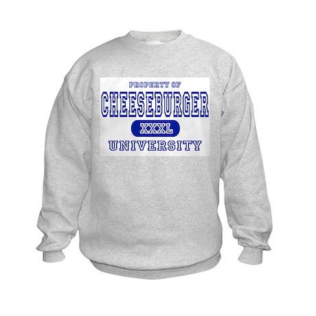Cheeseburger University Kids Sweatshirt