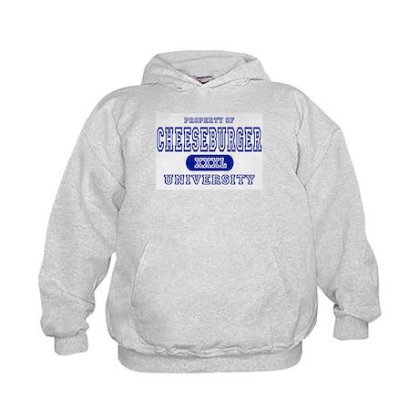 Cheeseburger University Kids Hoodie