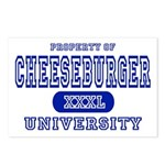 Cheeseburger University Postcards (Package of 8)