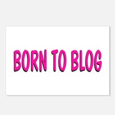 Born to Blog Postcards (Package of 8)