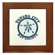 Panama City - Sand Dollar Design. Framed Tile