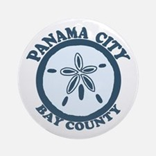 Panama City - Sand Dollar Design. Ornament (Round)