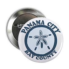 "Panama City - Sand Dollar Design. 2.25"" Button"
