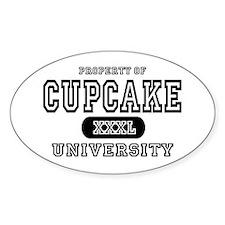 Cupcake University Oval Decal