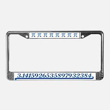 Team Pi Blue License Plate Frame