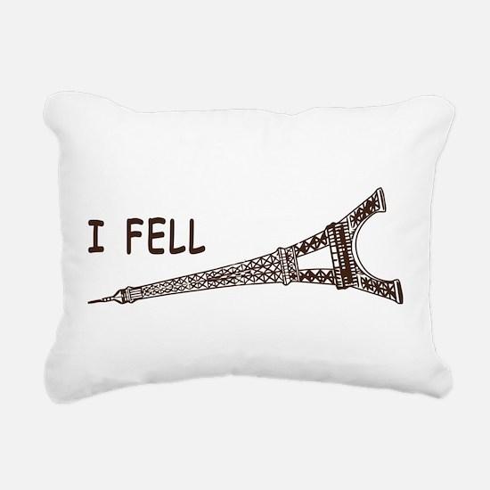 I fell Rectangular Canvas Pillow