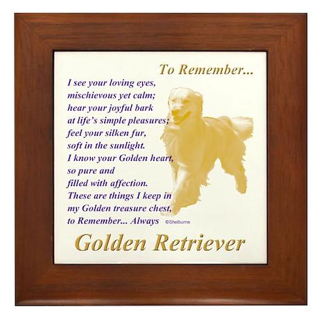 Golden Retriever To Remember Framed Tile