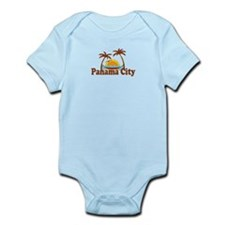 Panama City - Palm Tree Designs. Infant Bodysuit