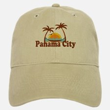 Panama City - Palm Tree Designs. Baseball Baseball Cap