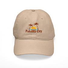Panama City - Palm Tree Designs. Baseball Cap