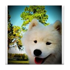 Chi Samoyed Tile Coaster