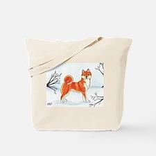 Shiba In The Snow Tote Bag