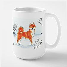 Shiba In The Snow Mug