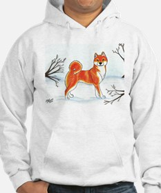 Shiba In The Snow Hoodie