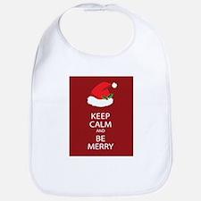 Keep Calm and Be Merry Bib