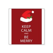 Keep Calm and Be Merry Sticker