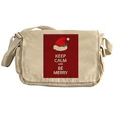 Keep Calm and Be Merry Messenger Bag