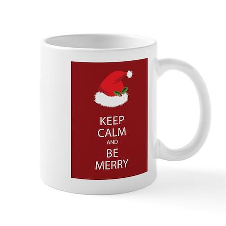 Keep Calm and Be Merry Mug