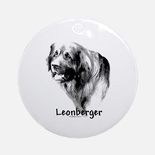 Leonberger Charcoal Ornament (Round)