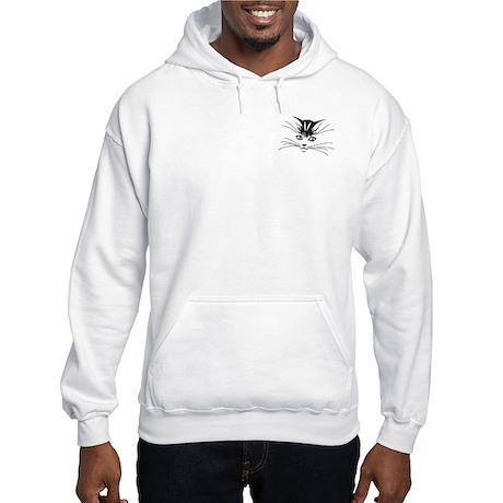 Kitty Face Hooded Sweatshirt