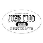 Junk Food University Oval Sticker
