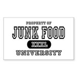 Junk Food University Rectangle Sticker