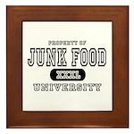 Junk Food University Framed Tile