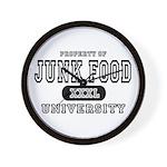 Junk Food University Wall Clock