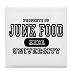 Junk Food University Tile Coaster