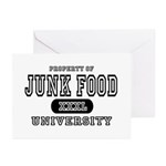 Junk Food University Greeting Cards (Pk of 10)