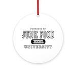Junk Food University Ornament (Round)