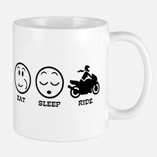 Female Motorcyclist Mug