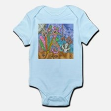 Sea Horse Sea Turtle Art Body Suit