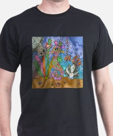 Sea Horse Sea Turtle Art T-Shirt