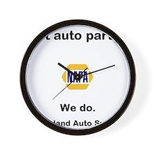 got auto parts? Wall Clock