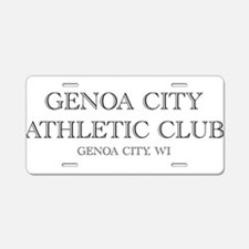 Genoa City Athletic Club 01.png Aluminum License P