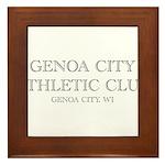 Genoa City Athletic Club 01.png Framed Tile