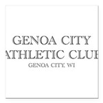 Genoa City Athletic Club 01.png Square Car Magnet