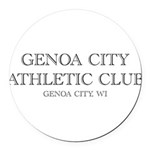 Genoa City Athletic Club 01.png Round Car Magnet