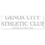 Genoa City Athletic Club 01.png Bumper Sticker