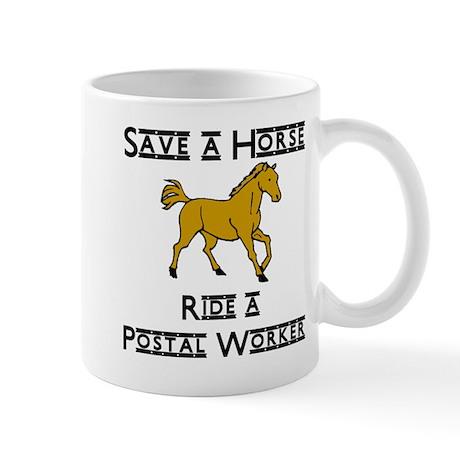 ride postal worker Mugs