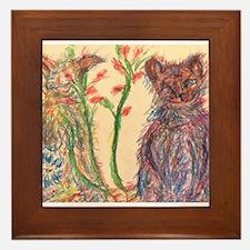 Pastel Harmony Framed Tile