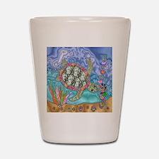 Sea Turtle Sea Horse Art Shot Glass