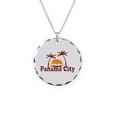 Panama City - Palm Tree Designs. Necklace